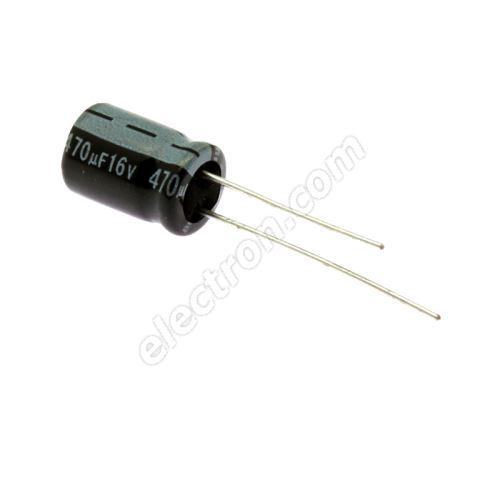 Electrolytic Radial E 470uF/16V 8x11.5 RM3.5 85°C Jamicon SKR471M1CFBBM