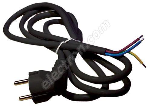 PVC Schuko Power Cable 3x0.75mm 2m length Black Color