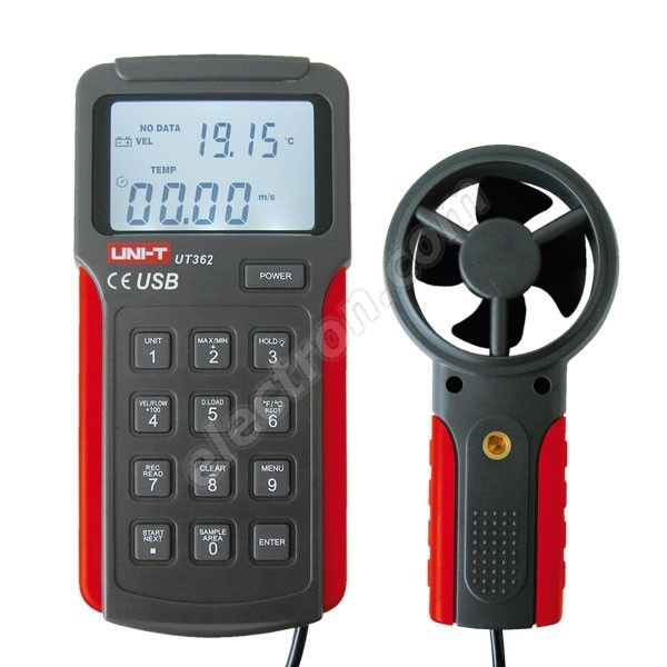 Digital anemometer UNI-T UT362 with USB