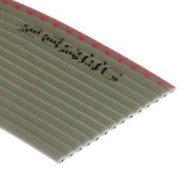 Flat ribbon cable AWG28 14 pin Grey Color