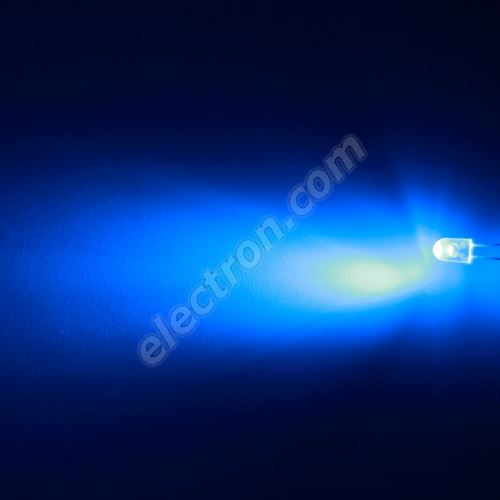 LED oval 5.2x3.8mm Blue Color 4000mcd/(70/40°) Transparent Lens Hebei 774LB7T-S