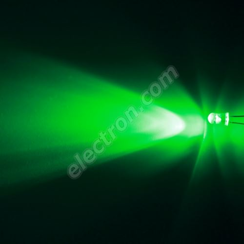 LED 5mm Green Color 24000mcd/17° Water Clear Lens Hebei 515XG2C