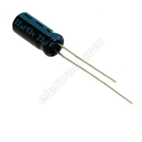 Electrolytic Radial E 22uF/63V 5x11 RM2 105°C Jamicon TKR220M1JD11M