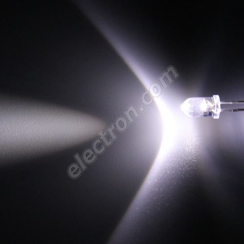 LED 5mm Cool White Color 18000mcd/17° Water Clear Lens Hebei 515PWC