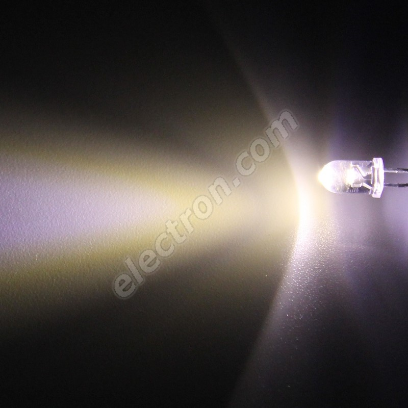 LED 5mm Warm White Color 12000mcd/30° Water Clear Lens Hebei 530PWO4C