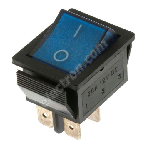Rocker Switch Jietong IRS-201-1C3D-BL/B