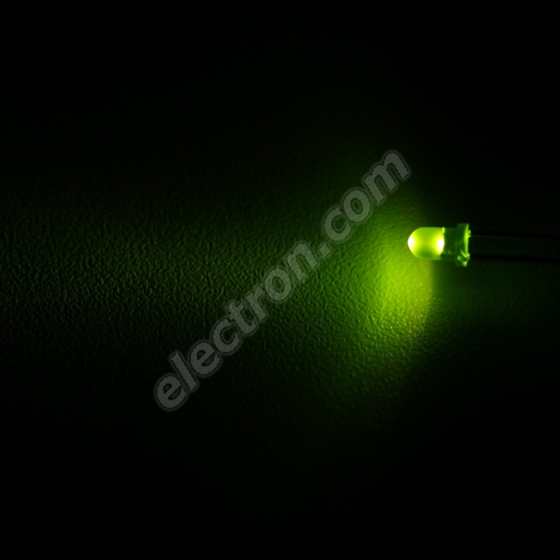 LED 3mm Green Color 110mcd/30° Difussed Lens Wenrun LAG30240
