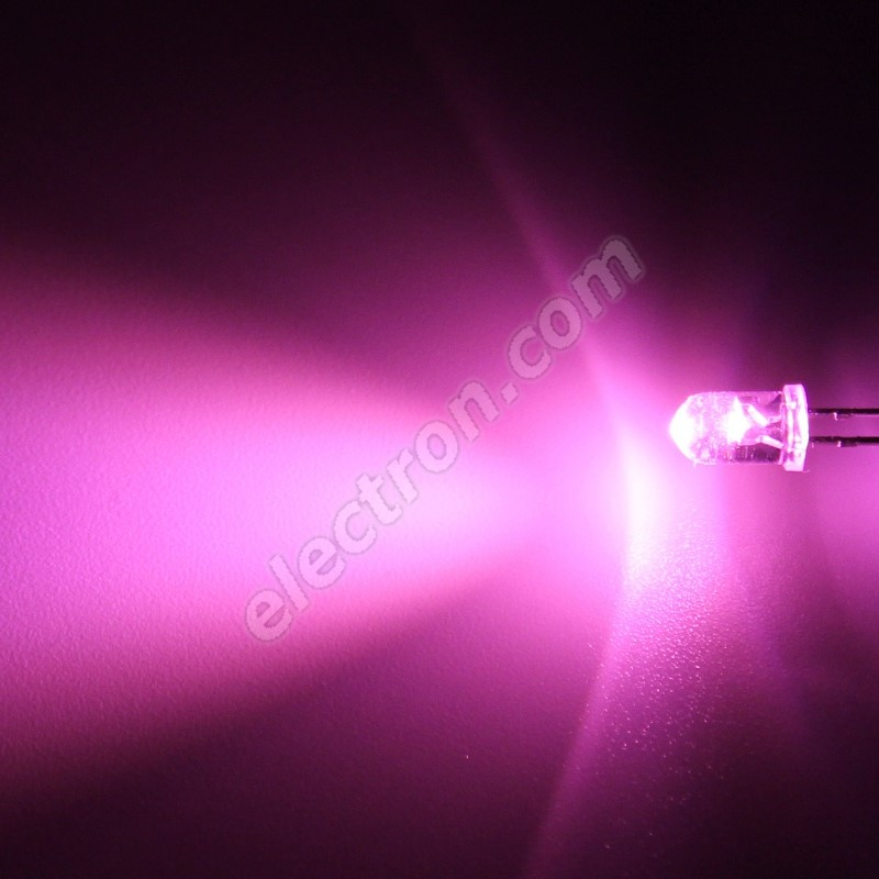 LED 5mm Pink Color 6000mcd/30° Water Clear Lens Hebei 530JPKC