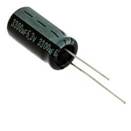 Electrolytic Radial E 3300uF/6.3V 10x21 RM5 85°C Jamicon SKR332MOJG21M
