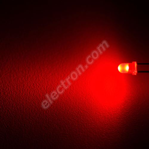LED 3mm Red Color 580mcd/25° Difussed Lens Wenrun LUE30240