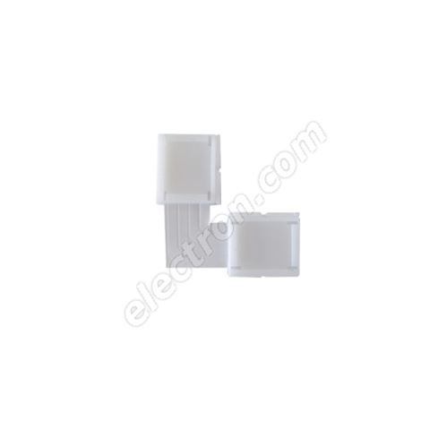 10mm 4pin Solderless L Type Clip-on Connector for 5050 LED Strip Multicolor