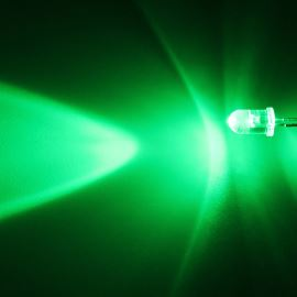 LED 5mm Green Color 8000mcd/30° Water Clear Lens Hebei 530VG2C