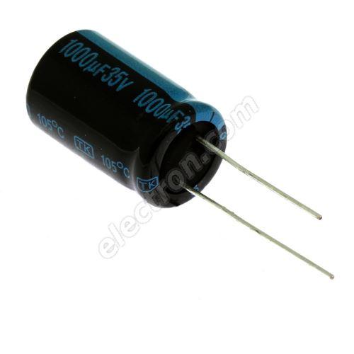 Electrolytic Radial E 1000uF/35V 12.5x20 RM5 105°C Jamicon TKR102M1VI21M