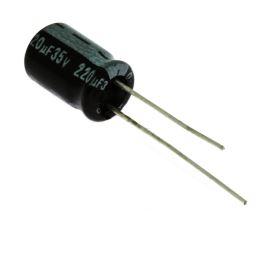 Electrolytic Radial E 220uF/35V 8x11 RM3.5 85°C Jamicon SKR221M1VF11M