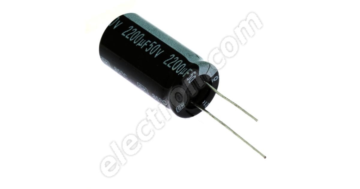 5x Elko Kondensator axial 2200µF 50V 85°C ; SME50TK2200 ; 2200uF