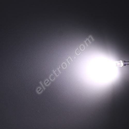 LED 8mm 100mA Cool White Color 47lm/120° Water Clear Lens Hebei 05W08EW6C