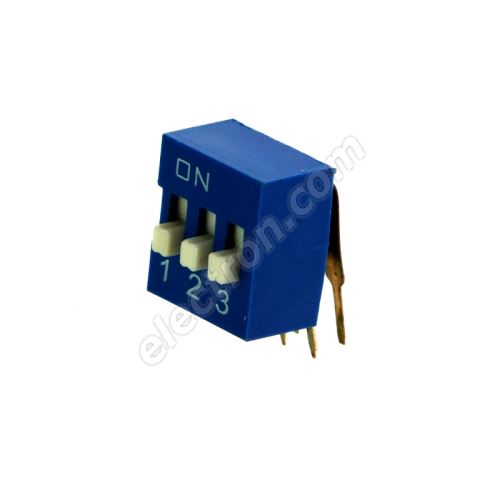 DIP switch Kaifeng KF1003-03PG-BLUE