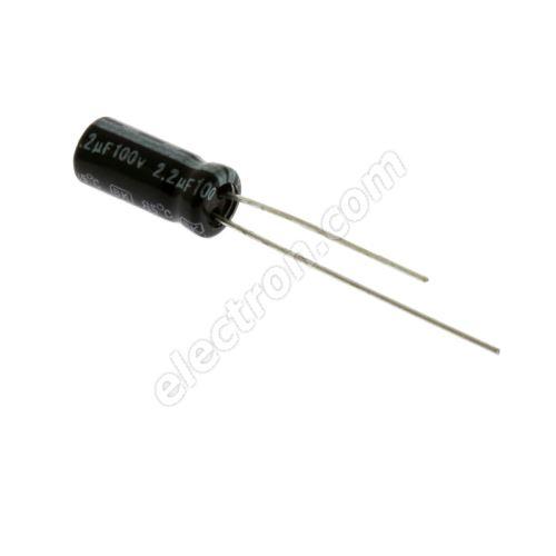 Electrolytic Radial E 2.2uF/100V 5x11 RM2 85°C Jamicon SKR2R2M2AD11M