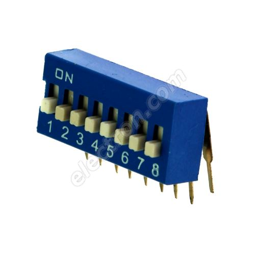 DIP switch Kaifeng KF1003-08PG-BLUE