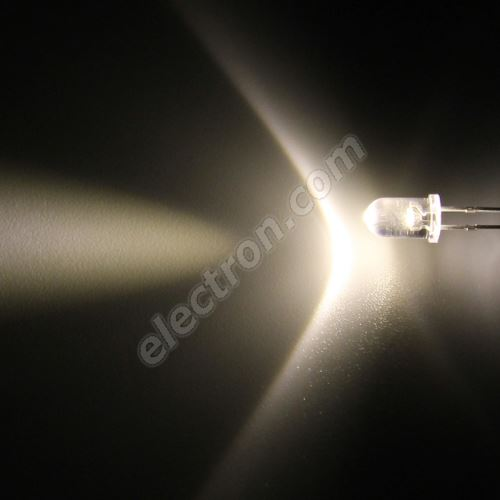 LED 5mm Warm White Color 18000mcd/17° Water Clear Lens Hebei 515PWO4C