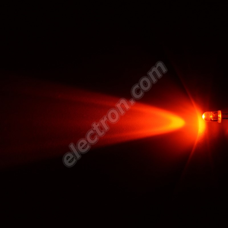 LED 5mm Orange Color 4000mcd/30° Water Clear Lens Hebei 530Mo0C