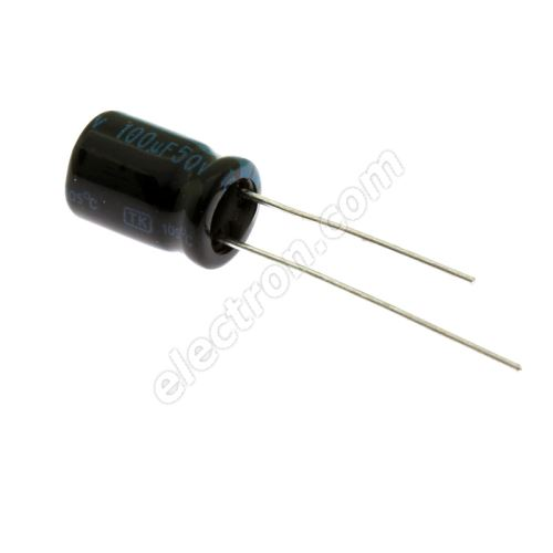 Electrolytic Radial E 100uF/50V 8x11.5 RM3.5 105°C Jamicon TKR101M1HFBBM