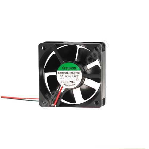 DC Fan 60x60x20mm 12V DC/153mA 33.5dB SUNON EB60201S1-000U-999