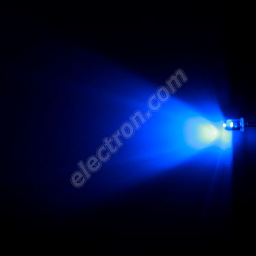 LED 5mm Blue Color 1000mcd/65° Water Clear Lens Hebei 560PB6C
