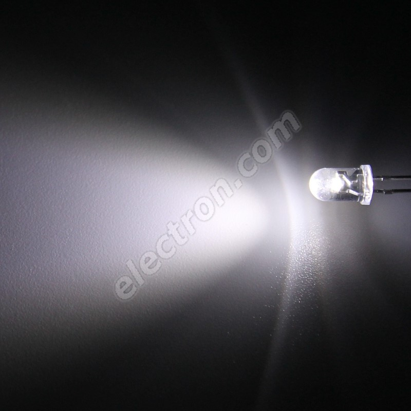 LED 5mm Cool White Color 6000mcd/65° Water Clear Lens Hebei 560PWC