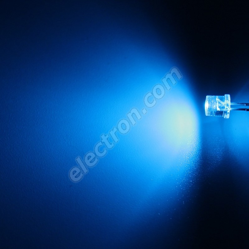 LED 5mm Blue Color 390mcd/100° Water Clear Lens Hebei 599PB6C