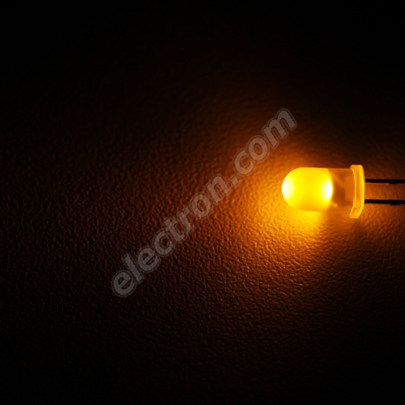 LED 5mm Yellow (Amber) Color 360mcd/30° Diffused Lens Wenrun LUY50330