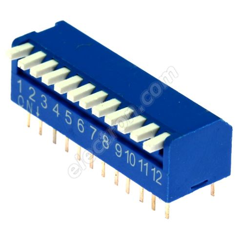 DIP switch Kaifeng KF1002-12PG-BLUE