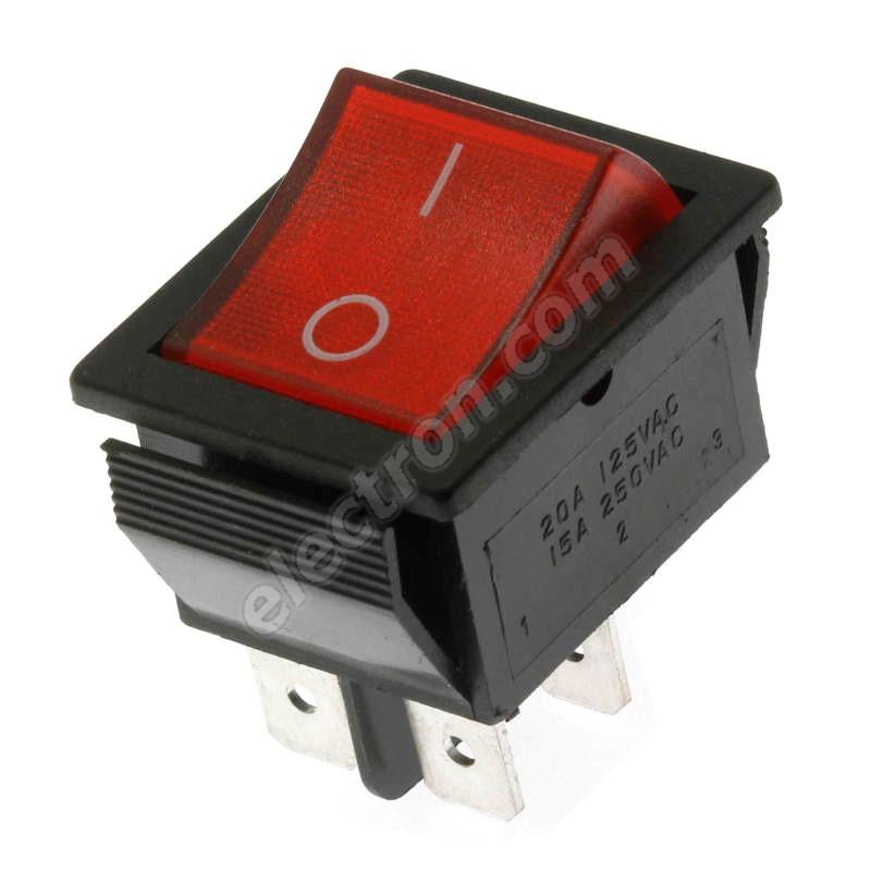 Rocker Switch Jietong RS-201-1C3-R/B