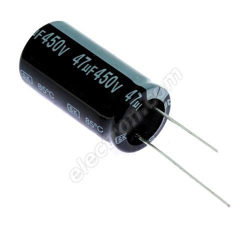 Electrolytic Radial E 47uF/450V 18x35.5 RM7.5 85°C Jamicon SKR470M2WL35M