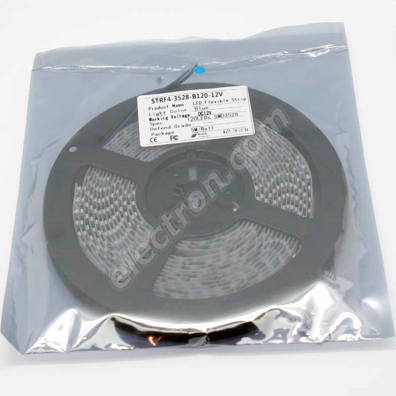 Non-Waterproof LED Strip 3528 Blue - STRF 3528-120-B - 1 meter length