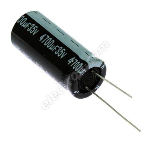 Electrolytic Radial E 4700uF/35V 18x42 RM7.5 85°C Jamicon SKR472M1VL42M