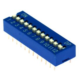 DIP switch Kaifeng KF1001-12PG-BLUE