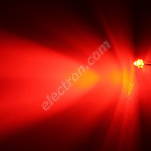 LED 1.8mm Red Color 2000mcd/30° Water Clear Lens Hebei 130MR2C