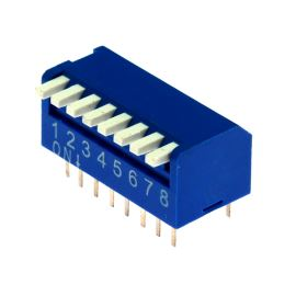 DIP switch Kaifeng KF1002-08PG-BLUE