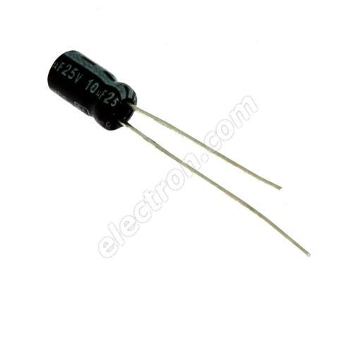 Electrolytic Radial E 10uF/25V 4x7 RM1.5 85°C Jamicon SSR100M1EC07M
