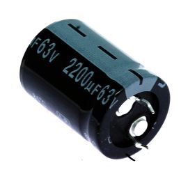 Electrolytic Capacitor Snap-in E 2200uF/63V 22x30 RM10 85°C Jamicon LPW222M1JN30M