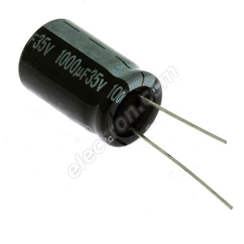 Electrolytic Radial E 1000uF/35V 13x21 RM5 85°C Jamicon SKR102M1VJ21M
