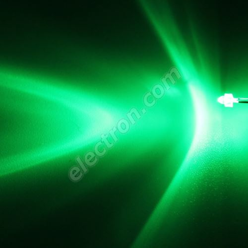 LED 1.8mm Green Color 6000mcd/30° Water Clear Lens Hebei 130PG2C