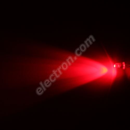 LED 5mm Red Color 6000mcd/40° Water Clear Lens Hebei 540PR2C
