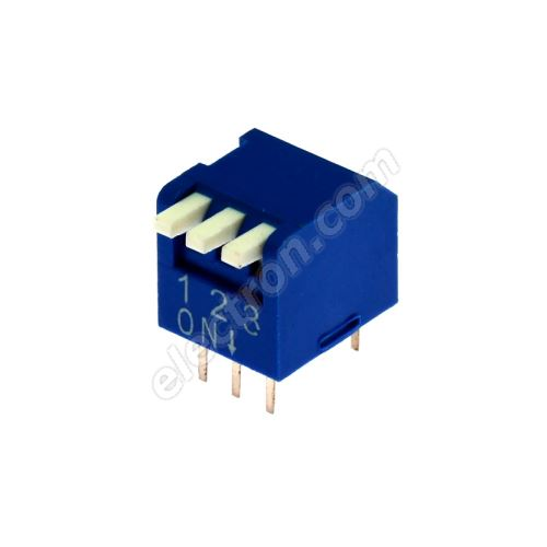 DIP switch Kaifeng KF1002-03PG-BLUE