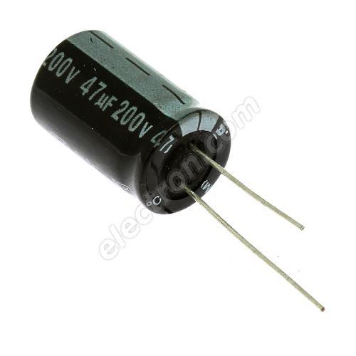 Electrolytic Radial E 47uF/200V 13x21 RM5 85°C Jamicon SKR470M2DJ21M