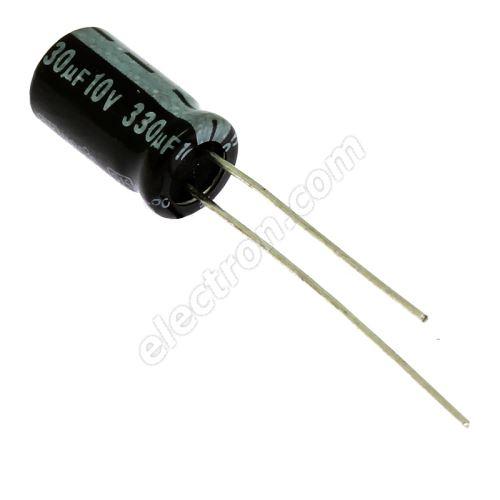 Electrolytic Radial E 330uF/10V 6.3x11 RM2.5 85°C Jamicon SKR331M1AE11M