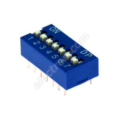 DIP switch Kaifeng KF1001-07PG-BLUE