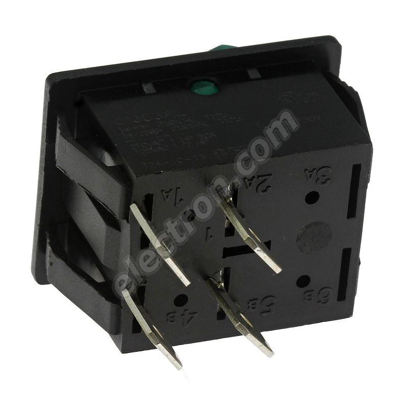 Rocker Switch Arcolectric C1353ALNAX