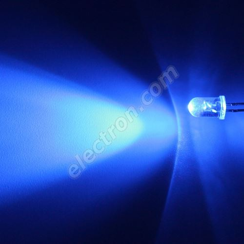 LED 5mm Blue Color 2130mcd/30° Water Clear Lens Hebei 530LB5C